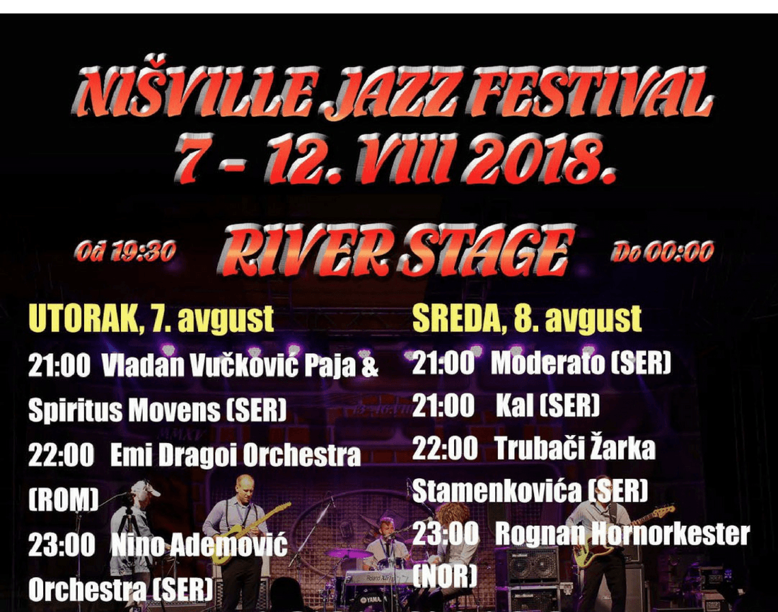Nisville Jazz Festival - River Stage LIneup 2018