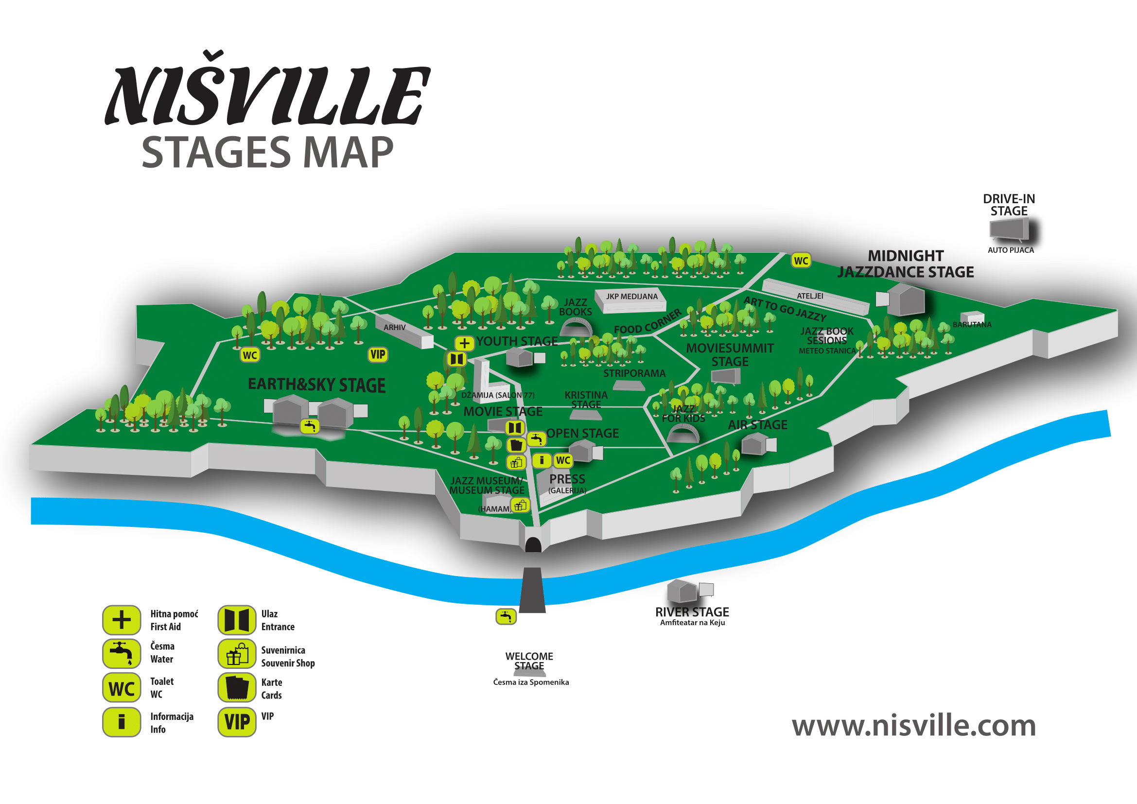 Stage map Nišville Jazz Festival 2018