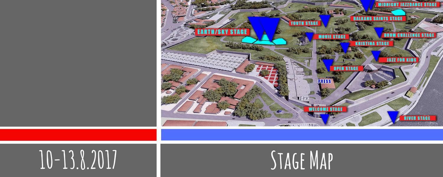 Stage Map - Nišville Jazz Festival