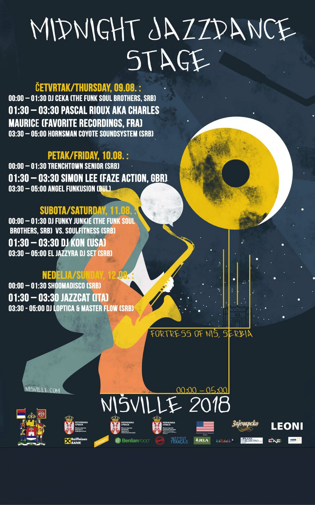 Midnight Jazz Dance LIneup - Nisville 2018
