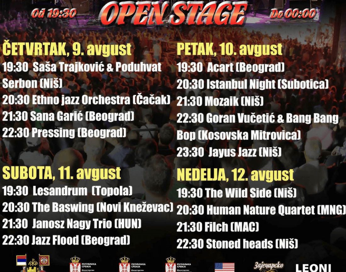 Nisville Jazz Festival - Open Stage LIneup 2018