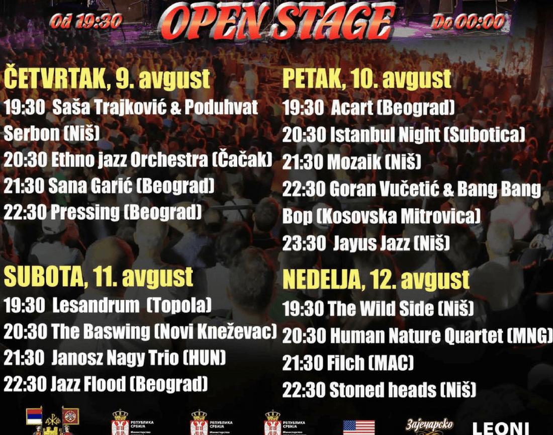 Nisville Jazz Festival - Open Stage LIneup 2018