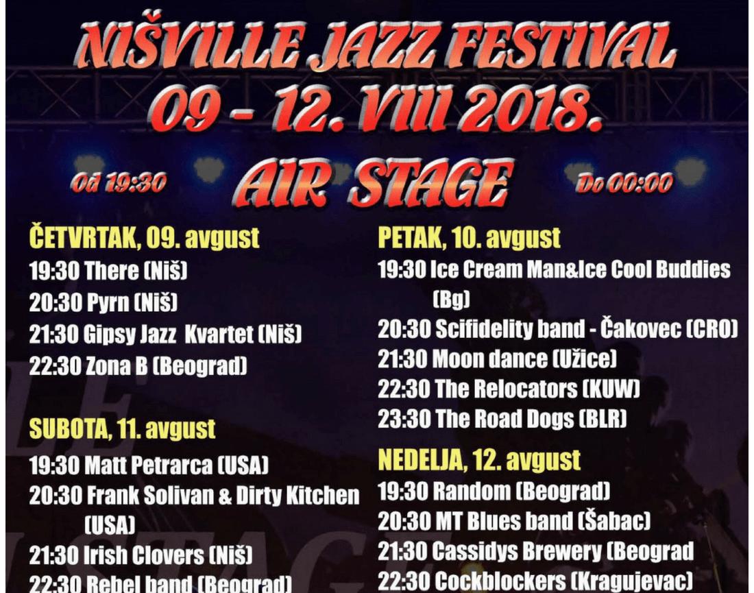 Nisville Jazz festival - Air Stage LIneup - Nisville 2018