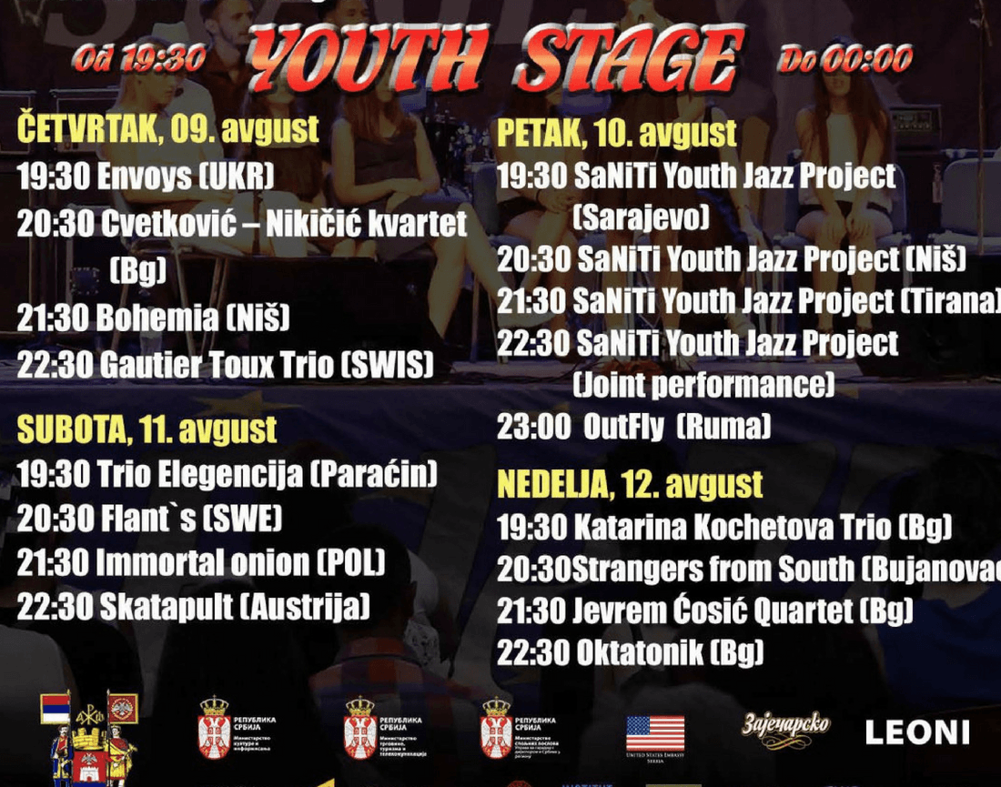 Nisville Jazz Festival - Youth Stage Lineup - Nisville 2018